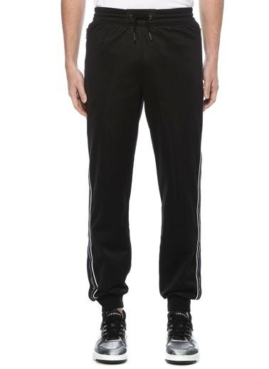 Givenchy Givenchy 101598234 Polyester Logo Ve Şerit Detaylı Beli Lastikli Bağcıklı Jogger Cepli Erkek Eşofman Altı Siyah